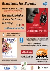 """Affiche de l'événement """"Écoutons les écrans"""" - Tourcoing, 13 avril 2011"""